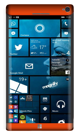 Microsoft Lumia 965 Concept Orange