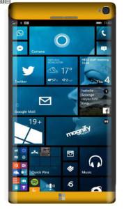 Microsoft Lumia 965 Concept Gold