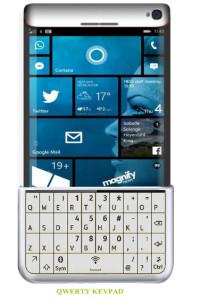 Microsoft Lumia 975 Concept QWERTY Keypad